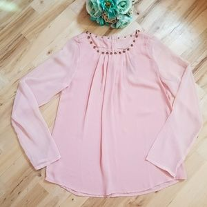 Moon Collection Blushing pink top